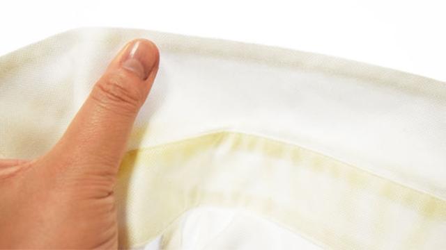 シャツの黄ばみをかんたんに一発できれいに取る方法をお教えしますね!